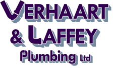 plumber logo for verhaart and laffey plumber masterton